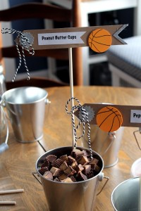 basketball ice cream toppings | polka dots and picket fences