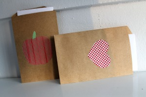 washi tape gift bags | polka dots and picket fences