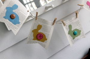 bunny book page bunting | polka dots and picket fences