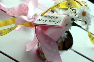 may day baskets   polka dots and picket fences