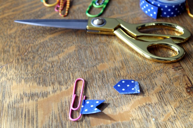 washi tape paper clips | polka dots and picket fences