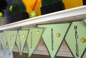 softabll sweets station | polka dots and picket fences