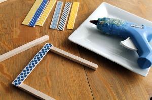 washi tape coasters | polka dots and picket fences