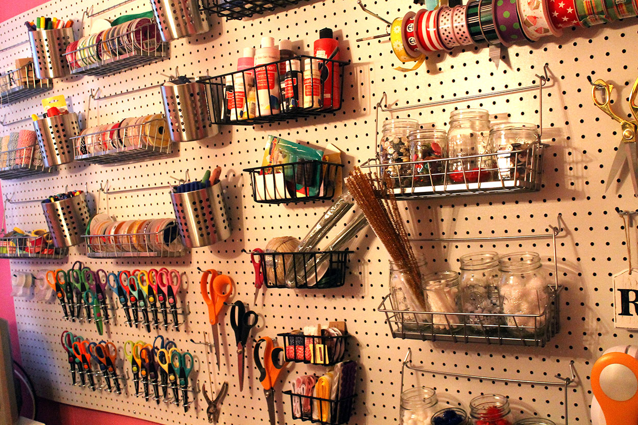 craft room On craft room pegboard accessories