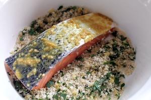 honey mustard panko crusted salmon   polka dots and picket fences