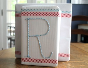 no bow gift wrap | polka dots and picket fences