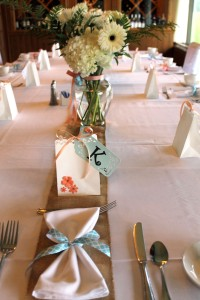 surprise luncheon | polka dots and picket fences