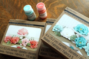 paper flower kit | polka dots and picket fences