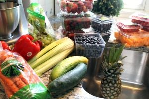 prepping the produce | polka dots and picket fences