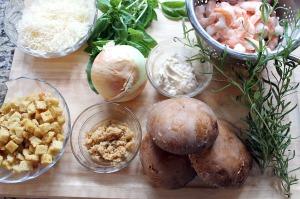 shrimp stuffed mushrooms | polka dots and picket fences