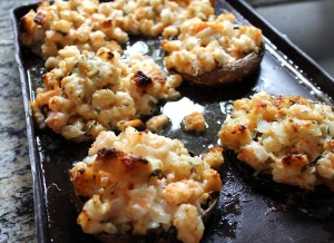 shrimp stuffed mushrooms | polka dots and picket fences