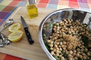 chickpea salad | polka dots and picket fences