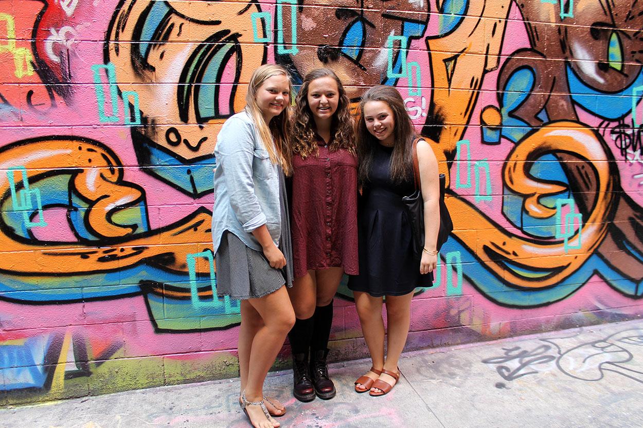 Graffiti wall ann arbor - Graffiti Wall Polka Dots And Picket Fences