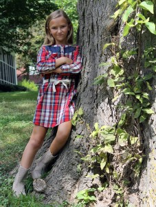 one girl...two styles | polka dots and picket fences