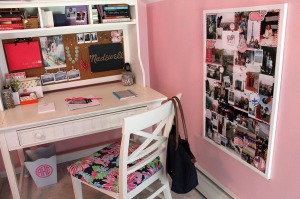 preppy and pink...a bedroom redo | polka dots and picket fences
