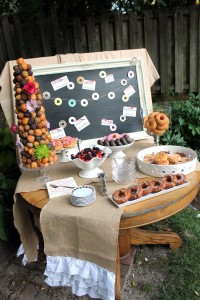 cocktails and donuts | polka dots and picket fences