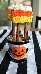 candy corn krispy treats | polka dots and picket fences