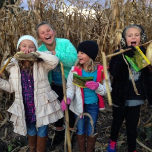 corn maze fun | polka dots and picket fences