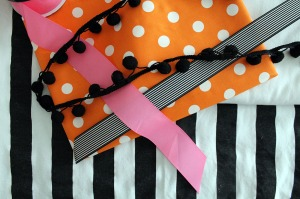 orange and black...and PINK