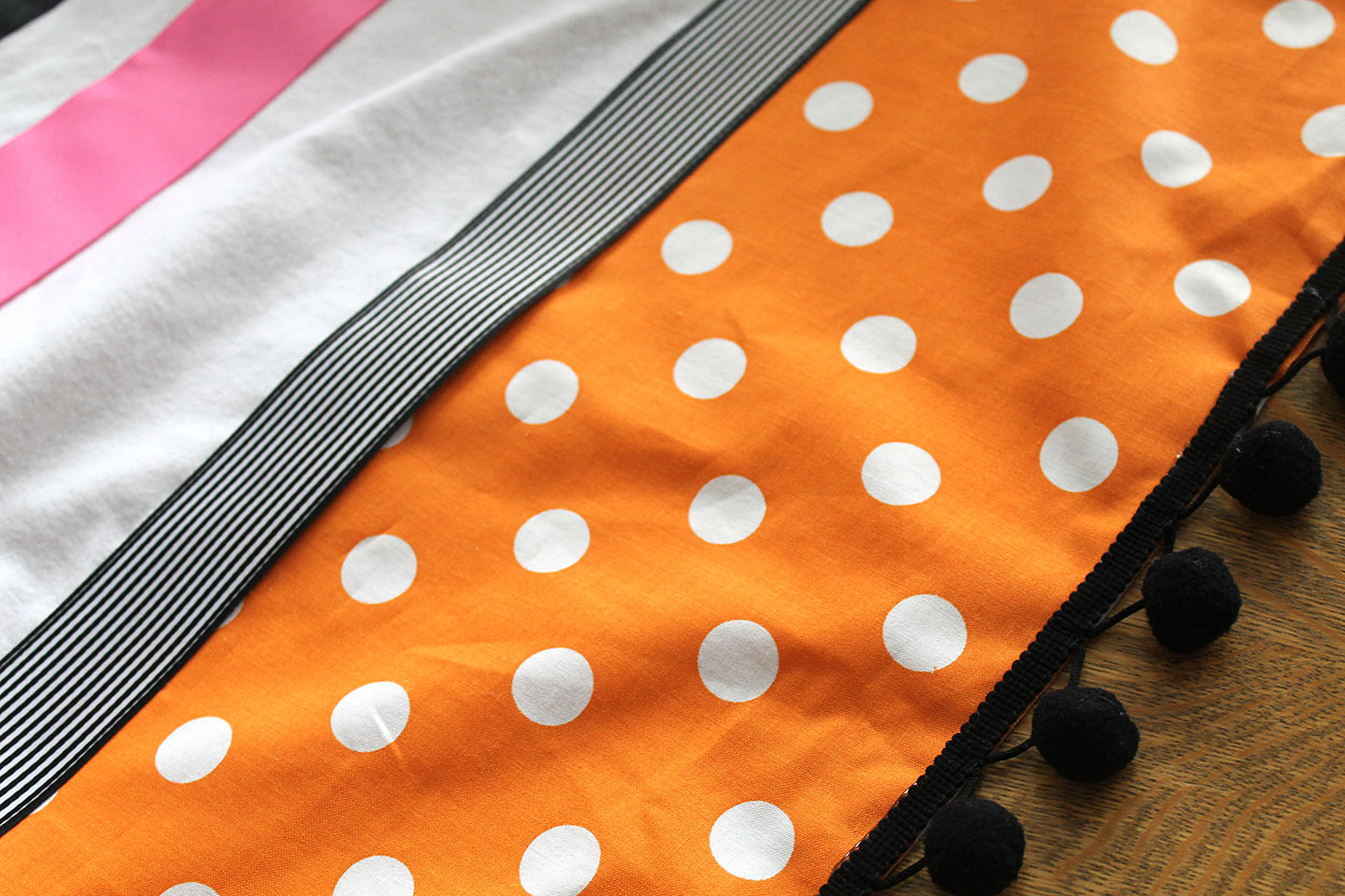 orange and black and pink. Black Bedroom Furniture Sets. Home Design Ideas