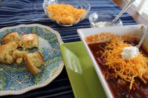 pork, beef, and black bean chili | polka dots and picket fences