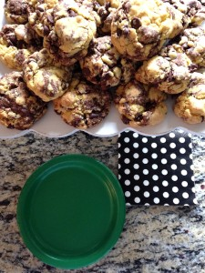 marble cookies | polka dots and picket fences