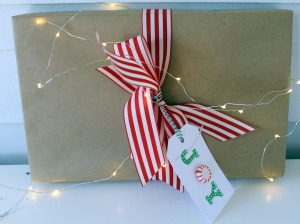 holiday wrapping | polka dots and picket fences